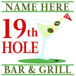 custom 19th hole sign