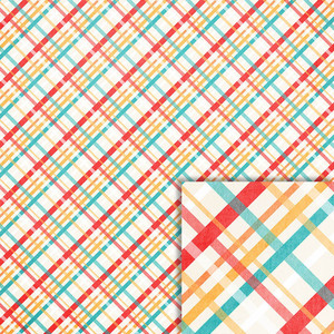 summer plaid background paper