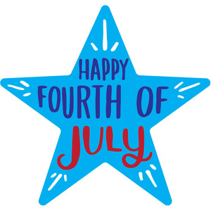 happy fourth of july star