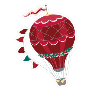 hot air balloon christmas