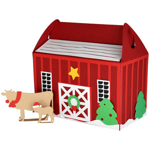 christmas barn gift box