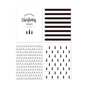fj christmas tree journaling card set