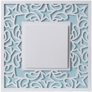 5x5 ornate stars frame card