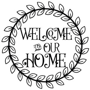 welcome to our home wreath,