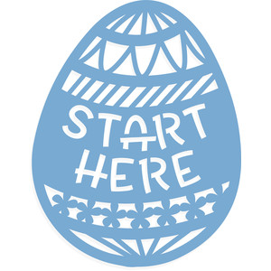egg hunt start here sign