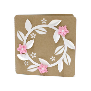 3d floral wreath card