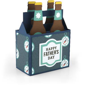 box card bottles father's day
