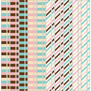 matching striped washi tape / border sticker set