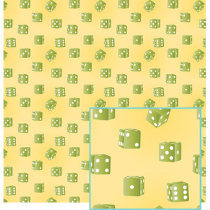 green dice pattern