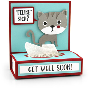 get well tissue wrap cat