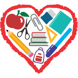 back to school heart