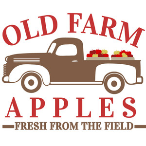 old farm apple truck