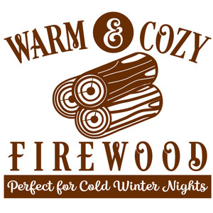 warm & cozy firewood sign