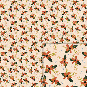orange flowers background paper