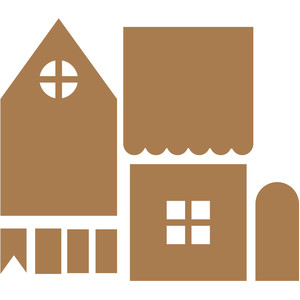 gingerbread house cookie template