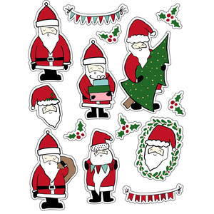 ml santa friends stickers