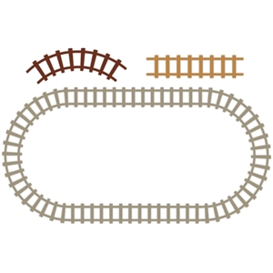 train tracks set