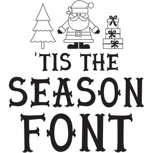 tis the season font