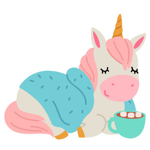 unicorn with hot chocolate