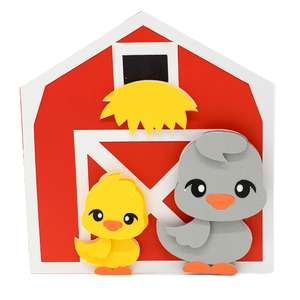 ducks and barn card
