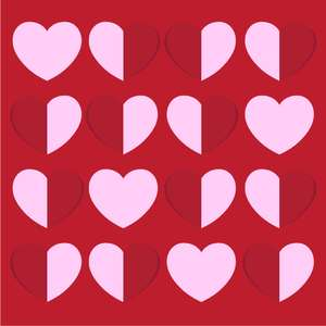 folding hearts background