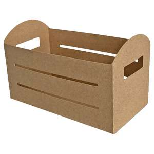 rounded crate box with slats