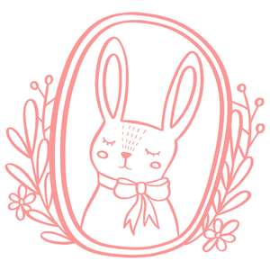 floral rabbit frame