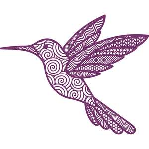 hummingbird zentangle mandala