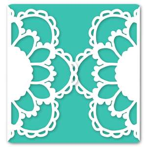flower gatefold card