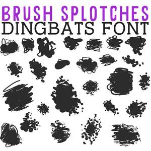 cg brush splotches dingbats