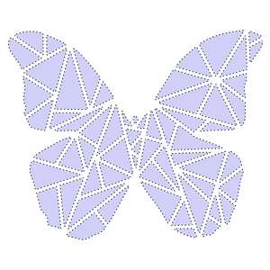 sketch and stitch geometric butterfly