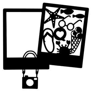 summer double photo frame