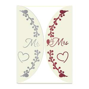 mr and mrs wedding invitation card