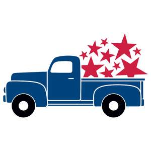 4th of july vintage truck