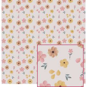 flowers on pink pattern