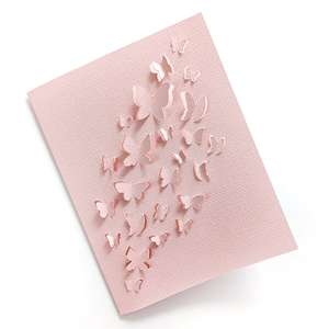 cut and fold butterflies card