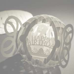 4 layered pop up sphere happy birthday