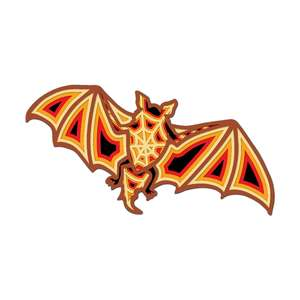 3d bat halloween multi layer mandala 5 layers