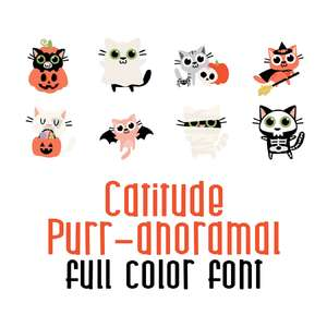 catitude purranormal full color font