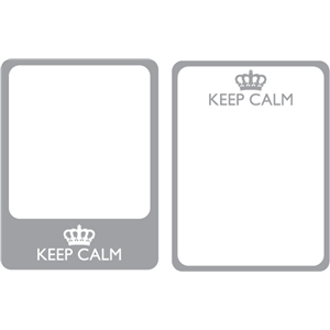 set of 2 keep calm journaling cards
