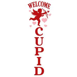 welcome cupid porch sign