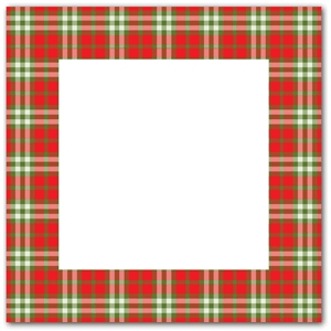 red green plaid frame