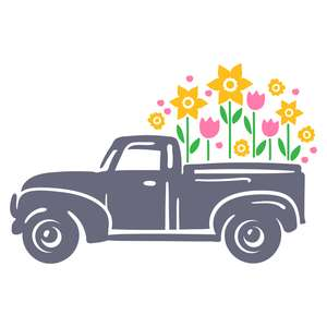 truck with flowers
