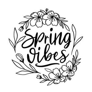 spring vibes flower wreath