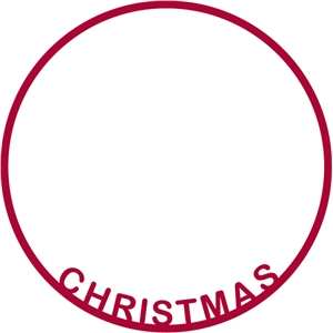 christmas word circle frame