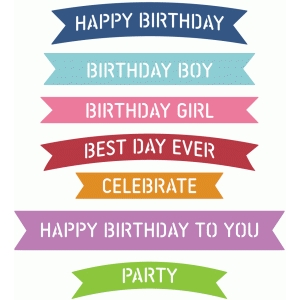 banner words - birthday
