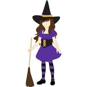 witch costume for Lizzy paper doll