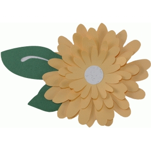 layered whimsy flower - daisy