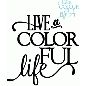 live a colorful life - vinyl phrase