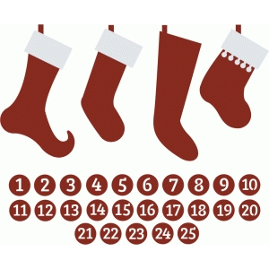 stockings with advent numbers